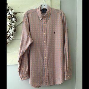 Ralph Lauren long sleeve button down shirt Lg.